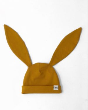 Bonnet Lapin Moutarde