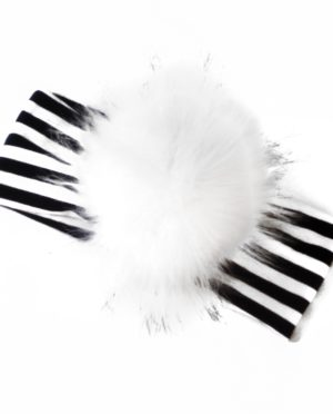HeadBand XL Pompon Rayé