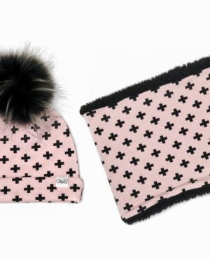 Snood polaire Cross Pink