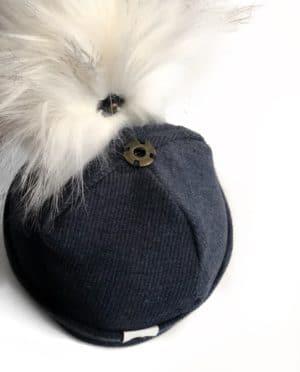 Bonnet Maille Bleu Jean