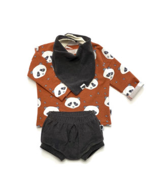 T-Shirt Panda Manches Longues 12/18 Mois