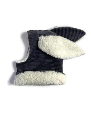 Cagoule Lapin grise 0-6 mois