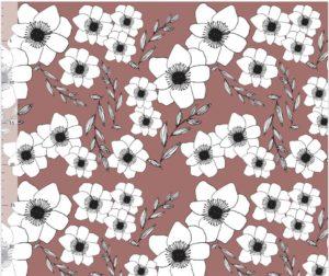 Sweat Fleurs Brunes
