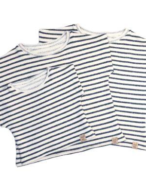 T-Shirt Éponge Marin 0/3 Mois