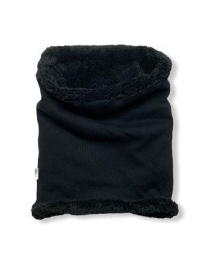 Snood Polaire Jersey Côtelé Noir Taille 3 (Ado/Adulte)